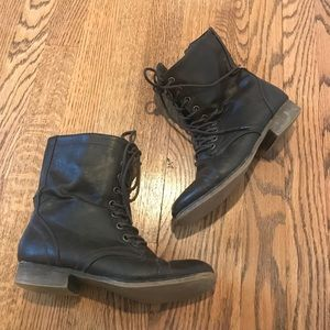Madden Girl Brown Troopa Combat Boots
